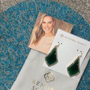 EUC KS Olivia Emerald Green Earrings - Barely Worn